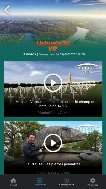 Bougez Vert en réalité virtuelle